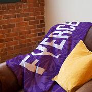 Cheerleading Premium Blanket - Fierce with Silhouette