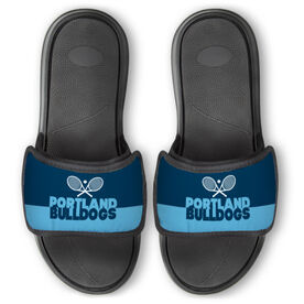 Tennis Repwell™ Slide Sandals - Team Name Colorblock
