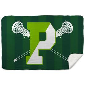 Sherpa Fleece Blanket - Pentucket Youth Girls Lacrosse Logo