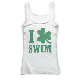 Swimming Vintage Fitted Tank Top - I Shamrock Swim