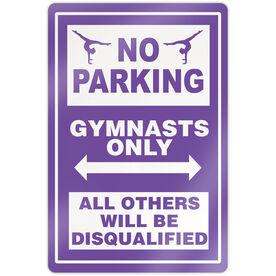 "Gymnastics 18"" X 12"" Aluminum Room Sign - No Parking Sign With Gymnast"