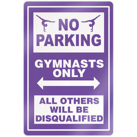 "Gymnastics 18"" X 12"" Aluminum Room Sign - No Parking Sign With Gymnast"