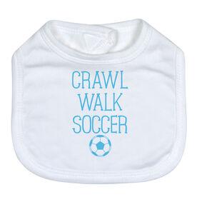 Soccer Baby Bib - Crawl Walk Soccer