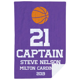 Basketball Premium Blanket - Personalized Captain