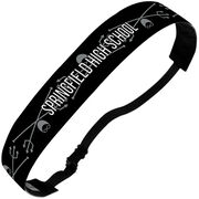 Swimming Juliband No-Slip Headband - Personalized Crossed Trident Stripe Pattern