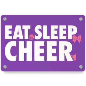 Cheerleading Metal Wall Art Panel - Eat Sleep Cheer