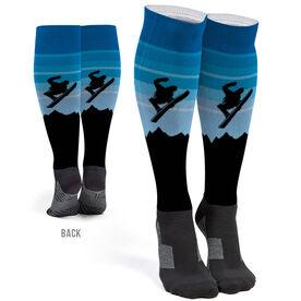 Snowboarding Printed Knee-High Socks - Airborne
