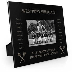 Guys Lacrosse Engraved Picture Frame - Team Name With Roster