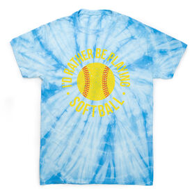 Softball Short Sleeve T-Shirt - Rather Be Playing Softball Distressed Tie Dye