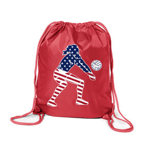 Volleyball Sport Pack Cinch Sack - Volleyball Stars and Stripes Player