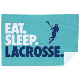 Girls Lacrosse Premium Blanket - Eat. Sleep. Lacrosse. Horizontal