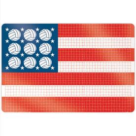 "Volleyball 18"" X 12"" Aluminum Room Sign - Patriotic"