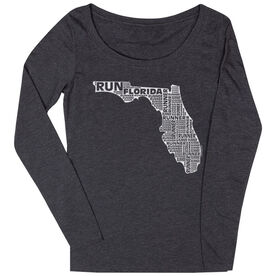 Women's Scoop Neck Long Sleeve Runners Tee Florida State Runner