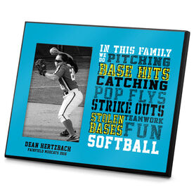 Softball Photo Frame We Do Softball