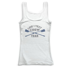 Crew Vintage Fitted Tank Top - Team Name With Crossed Oars