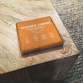 Guys Lacrosse Stone Coaster - Thanks Coach Roster