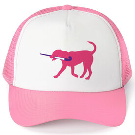 Field Hockey Trucker Hat - Flick The Field Hockey Dog