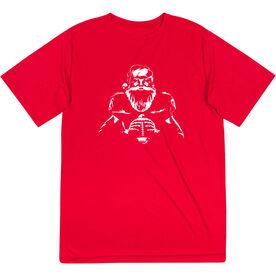 Football Short Sleeve Performance Tee - Santa Player