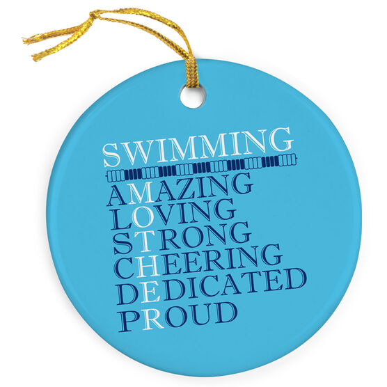 Swimming Porcelain Ornament - Mother Words