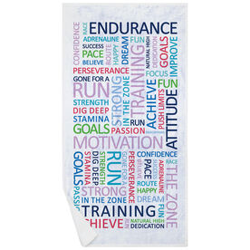 Running Premium Beach Towel - Motivation