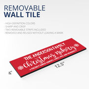 """Personalized 12.5"""" X 4"""" Removable Wall Tile - Christmas Bakery"""