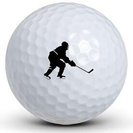 Hockey Boy Silhouette Golf Balls