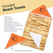 Basketball Hooded Towel - Rather Be Playing Basketball
