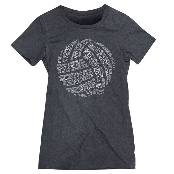 Volleyball Women's Everyday Tee - Volleyball Words
