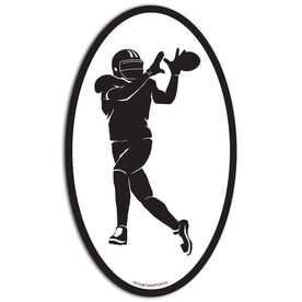 Football Wide Receiver Oval Car Magnet