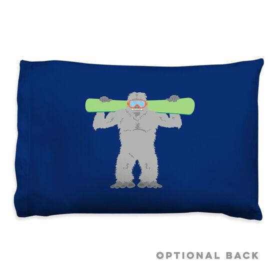 Snowboarding Pillowcase - Are You Yeti To Snowboard