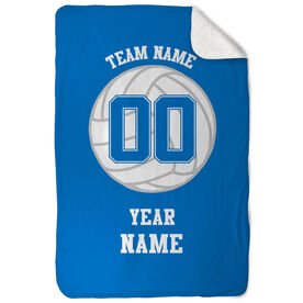 Volleyball Sherpa Fleece Blanket Personalized Team