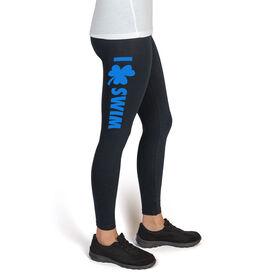 Swim High Print Leggings I Shamrock Swim