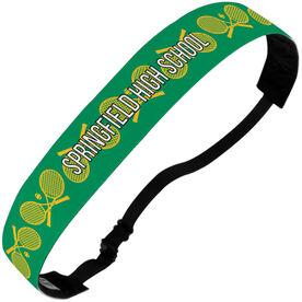Tennis Julibands No-Slip Headbands - Personalized Crossed Racquet Stripe Pattern