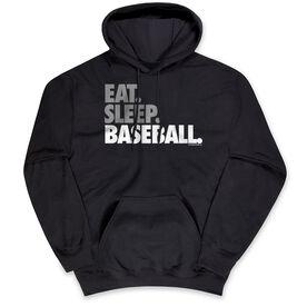Baseball Standard Sweatshirt - Eat Sleep Baseball Bold Text
