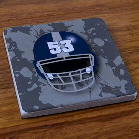 Football Stone Coaster Personalized Football Helmet
