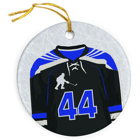 Hockey Porcelain Ornament Personalized Hockey Jersey