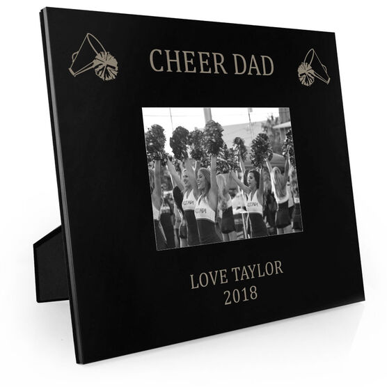 Cheerleading Engraved Picture Frame - Cheer Dad