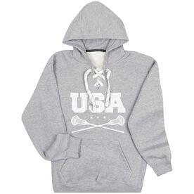 Guys Lacrosse Sport Lace Sweatshirt - USA Lacrosse