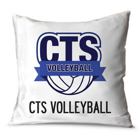 Volleyball Throw Pillow Custom Volleyball Logo With Team Name