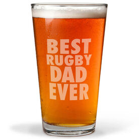 16 oz. Beer Pint Glass Best Rugby Dad Ever