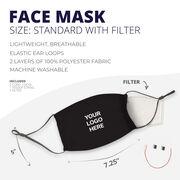 Personalized Face Mask - Personalized Custom Logo