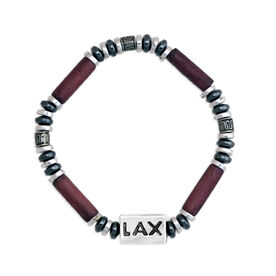 Power Hematite SportBEAD Lacrosse Bracelet (Brown) - SPECIAL PRICING - LIMITED QUANTITIES