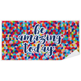 Running Premium Beach Towel - Prism Be Amazing Today