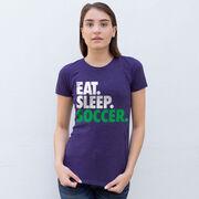 Soccer Women's Everyday Tee - Eat. Sleep. Soccer.