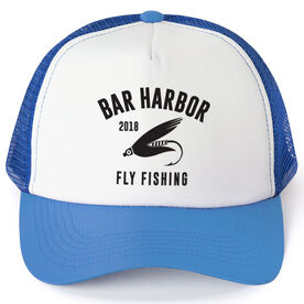 Fly Fishing Trucker Hat - Team Name With Curved Text