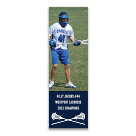 "Guys Lacrosse 12.5"" X 4"" Removable Wall Tile - Personalized Photo"