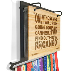 Engraved Bamboo BibFOLIO Plus Race Bib and Medal Display Only Those Willing