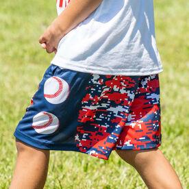 Patriotic Digital Camo Baseball Shorts