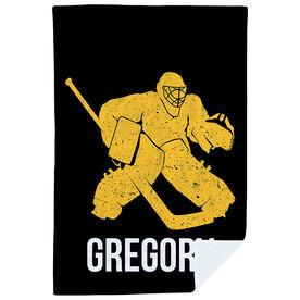 Hockey Premium Blanket - Personalized Goalie