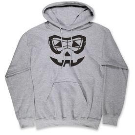Girls Lacrosse Hooded Sweatshirt - Lacrosse Goggle Pumpkin Face